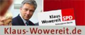 Banner: www.klaus-wowereit.de